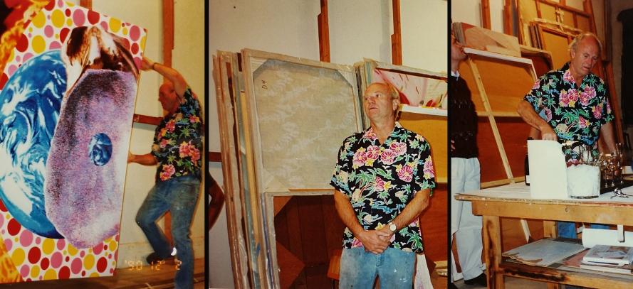 Rosenqvist in his studio